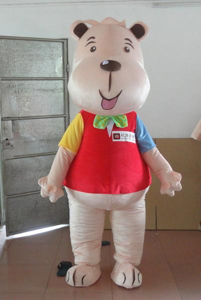 Hot sale Red bear Mascot Costume Mascot Costume cartoon Adult Fancy Dress Party Halloween Costume
