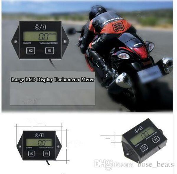 LCD Digital Engine Tach Tachymètre Toerenteller Compteur horaire inductif pour Gauge Compteur de moteur de moto tachymètre Affichage inductifs KKA5953
