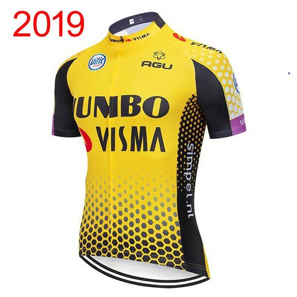 2019 тенденция горячая распродажа Jumbo Visma команда мужчины лето Велоспорт Джерси с короткими рукавами Быстрая сушка Дышащий Велосипедное оборудование X71229