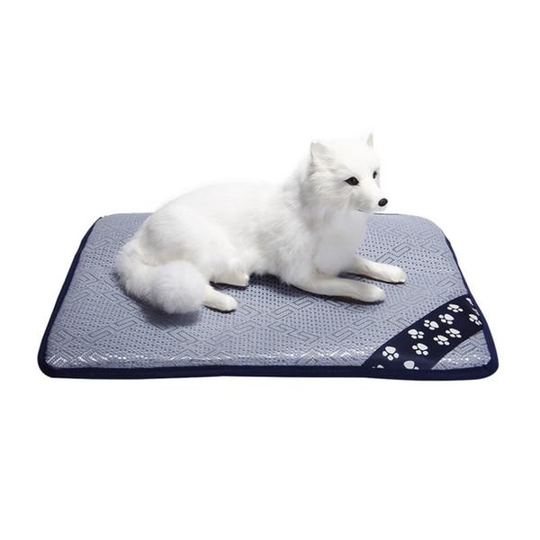 Pet Dog Summer Cooling Mat Mattress Cooler Mat For Cat Teddy Small Large-sized Dog Bed Mats Nest Summer Ice Rattan Cushion