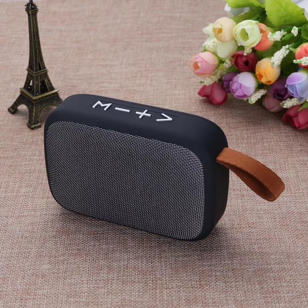 G2 Tragbarer Bluetooth-Lautsprecher mit HD-Audio, kabellose Stereo-Lautsprecher mit UKW-Radio, besserer Bass, Micro-SD / TF-Karte / U