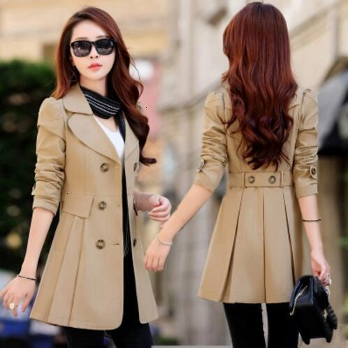 trench coats for women trench spring coat for women 6 colors turn down slim fit double breasted female coat plus size 4xl