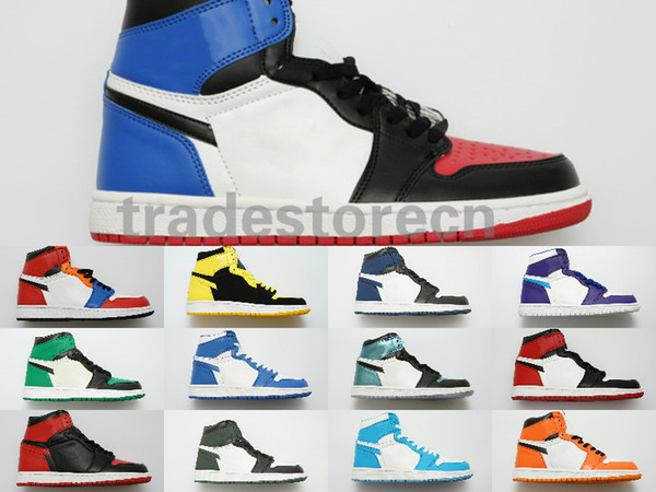 2019 Avec Box Mid Hommes 1 High OG Chicago Jeu Interdit Royal Chaussure De Basket-ball Hommes 1s Top Street Fantaisie Backboard Pas Cher Pour Femmes Sneakers Taille 13