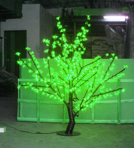 1.5m Height LED Cherry Blossom Tree Light 480pcs LED Bulbs 110/220VAC Seven Colors for Option Rainproof Outdoor Usage free ship