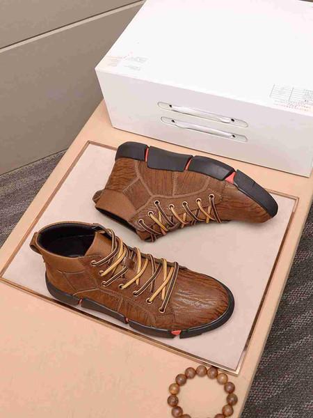 Nouvelle Europe chaussures pour hommes de marque haut de gamme mode casual sport de marche confortables lacets hommes casual chaussures 38-44 code libre expédition J90
