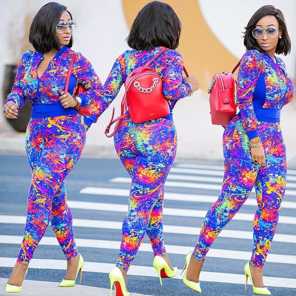 Vêtement de sport à manches longues pour femmes pantalons survêtement à capuche legging 2 pièces ensemble tenues bodycon sport ensemble