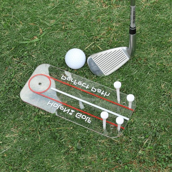 New Golf Swing Straight Practice Golf Putting Mirror Alignment Training Aid Swing Trainer Eye Line Accessories 22 x 10cm