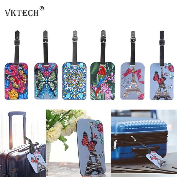top popular Home & Garden Butterfly Mandala DIY Special Shape Diamond Painting Lage Boarding Pass Suitcase Label Diamond Embroidery Needlework Craft 2021