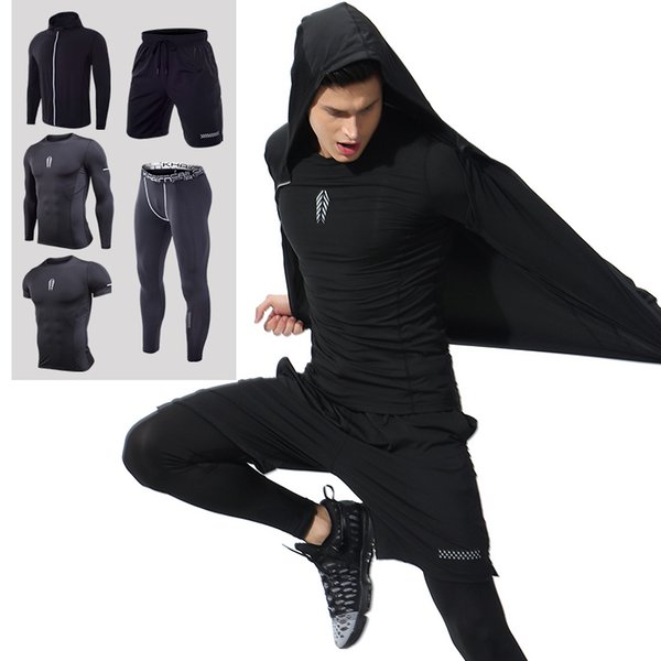 Men's Gym Clothes Workout & Training Clothes Suits Ropa Gym Hombre Mens Clothing Sportswear Running Shirt for Men Sets XL