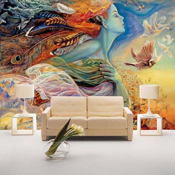 Wallpaper personalità su ordinazione murale 3D Wallpaper astratta figura Graffiti Wall Painting Cinema Bar KTV Bedroom TV contesto Photo