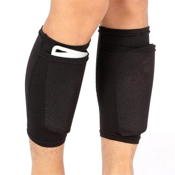 A Pair Of Soccer Protective Socks With Pocket For Football Shin Pads Leg Sleeves Supporting Shin Guard Support Socks