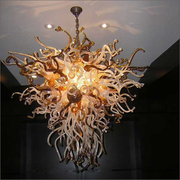 Incrível Decorativo Chihuly Luminárias 120 v / 240 v Lâmpadas LED Mão Lustre Murano Projetos de Vidro para Decoração de Casamento
