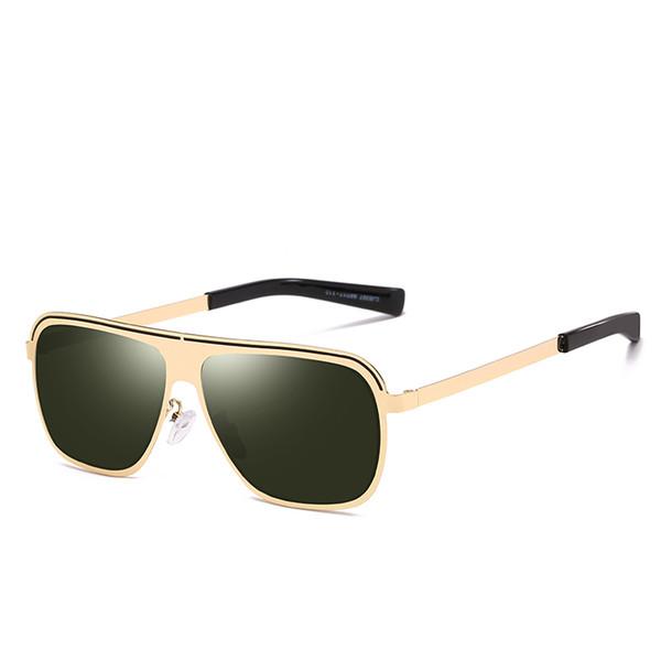 Erkek kadın marka tasarımcı güneş gözlüğü bayanlar erkek polarize güneş gözlüğü metal çerçeve benzersiz kare güneş gözlüğü uv400 gözlük gözlük 2019