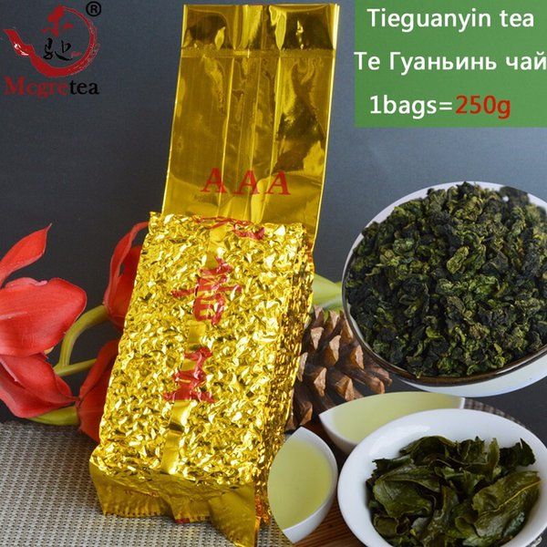 best selling [Mcgretea] 2020 High mountain New 250g China Authentic Green Tea,Chinese Anxi Tieguanyin Oolong Tea, Natural Organic Health Free Shipping