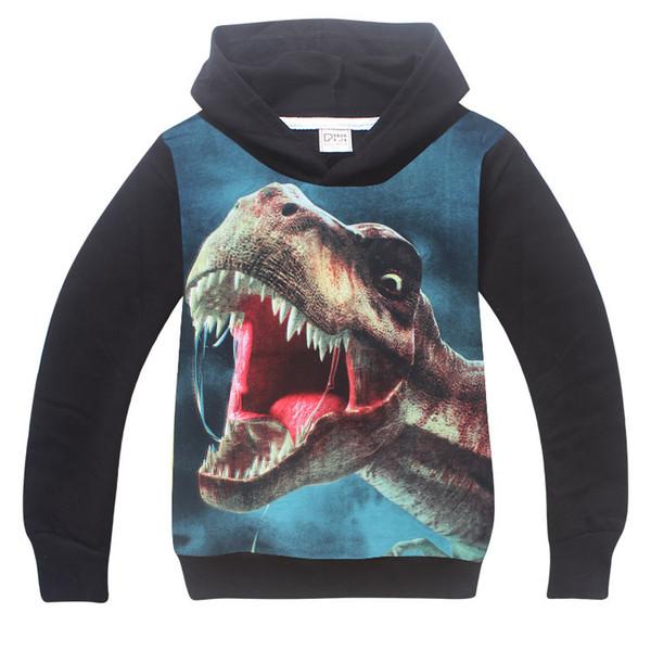 Children Clothing Boys Girls Dinosaur Pattern Long Sleeve T-Shirts Kids boys t shirts 3D Printed Hoodies Boy Sweatshirt Clothes