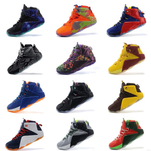 8eff3d7e9e5 Mens What the lebron 12 XII basketball shoes Fruity Pebbles Multi color  boys girls youth kids