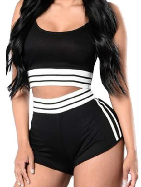 Euro-American esportes das mulheres colete shorts de duas peças terno venda rápida eBay