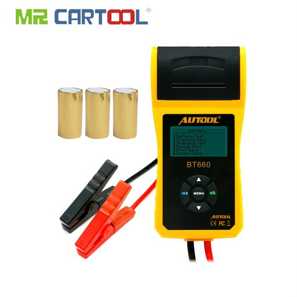 Car Battery Tester Analyzer With Printer 12V Digital Repair Workshop Auto Battery CCA Portable Diagnosis Tool Free Paper