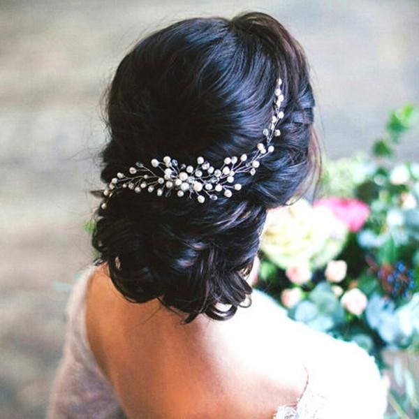 Nupcial Cabelo Combs Moda Hairwear Acessórios Para o Cabelo Do Casamento Pente De Cabelo Mulheres Menina Headpiece Cocar Decoração Cabeça