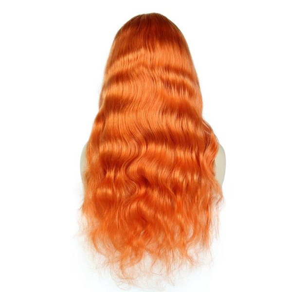 Pre Plucked Orange Color Lace Front Human Hair Wigs Body Wave Brazilian Remy Hair Full Lace Wigs With Baby Hair