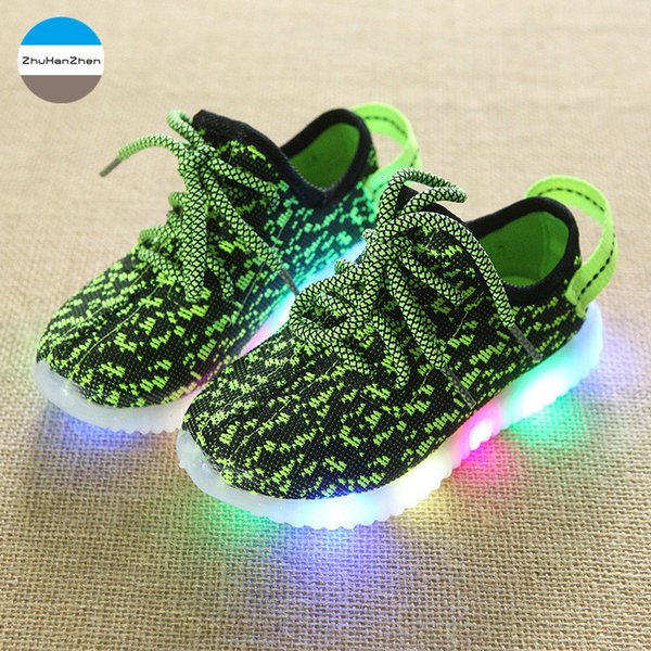 2019 1 To 10 Years Old LED Lighted Baby Boys And Girls Fashion Non-Slip kids Sneakers Children Casual Shoes Soft Bottom Shoes