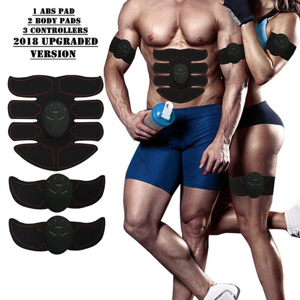 top popular Electric Muscle Stimulator Training Machine Abdominal Muscle Trainer Body Slimming Burning Exerciser Body Building Massager 2021