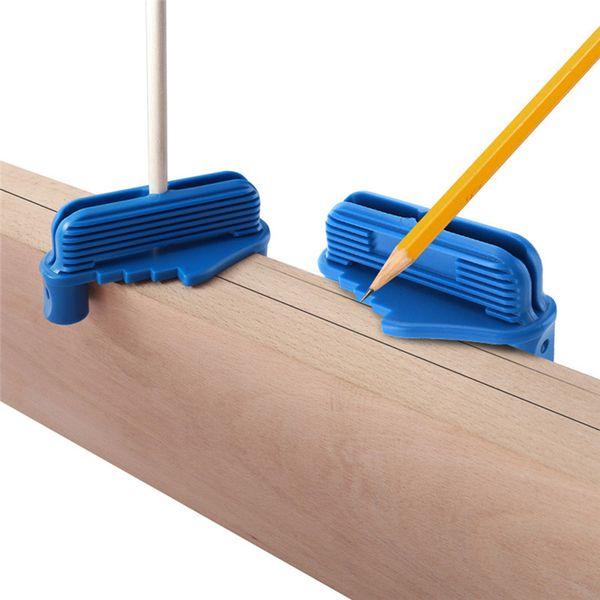 best selling Carpenter Woodworking Tool Marking Measurement Light Weight Connection Alignment Line Center Gauge Finder Locator Fits Standard Wooden Penci