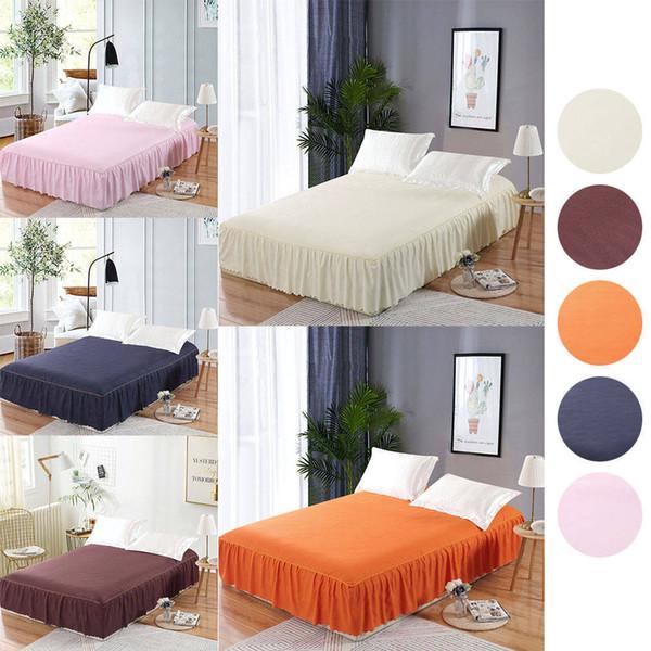 150*200cm New Wrap Around Ruffle Bed Skirt Korean Bedspread Suite Single  Bed Single Bed Hat Bedspread 45cm Full Bedskirt White King Bedskirt From ...