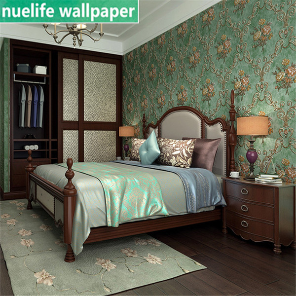 Idyllic Retro Nostalgic Style Living Room Bedroom Bookstore Restaurant  Beauty Salon 3D Non Woven Wallpaper Background Wallpaper Images On  Wallpaper ...