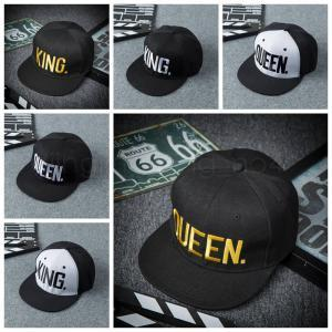 Berretto da baseball King Queen Lettera Hip Hop 6 Stili Berretti da baseball ricamati Coppie Accessori Cappellini modello IIA261