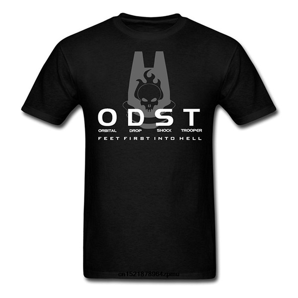 Männer T-Shirt Lustiges Halo Odst Logo und Mottos schwarze lustige T-Shirt Neuheitst-shirt Frauen