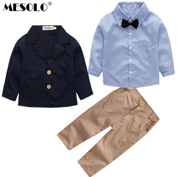 MESDOLO the United States during the spring and autumn coat three-piece boys long sleeve shirt The spot support a undertakes C1