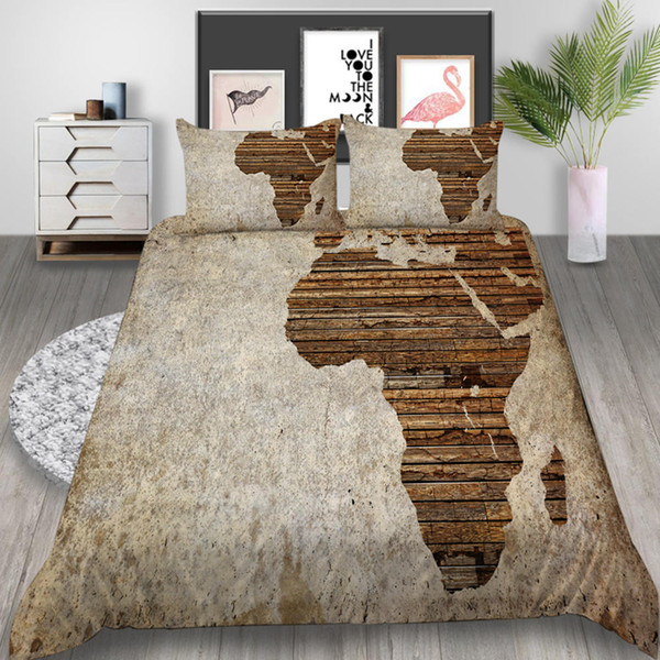 Africa Map Bedding Set Twin Vintage Creative Duvet Cover Board King Queen  Twin Full Single Double Comfortable Bed Cover With Pillowcase Bedspreads ...