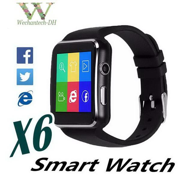 X6 Montre Smart Watch Curved Écran Smartwatches Bracelet Montre Support Caméra SIM Carte Fente Pour Carte TF Smartwatch Pour Android DHL