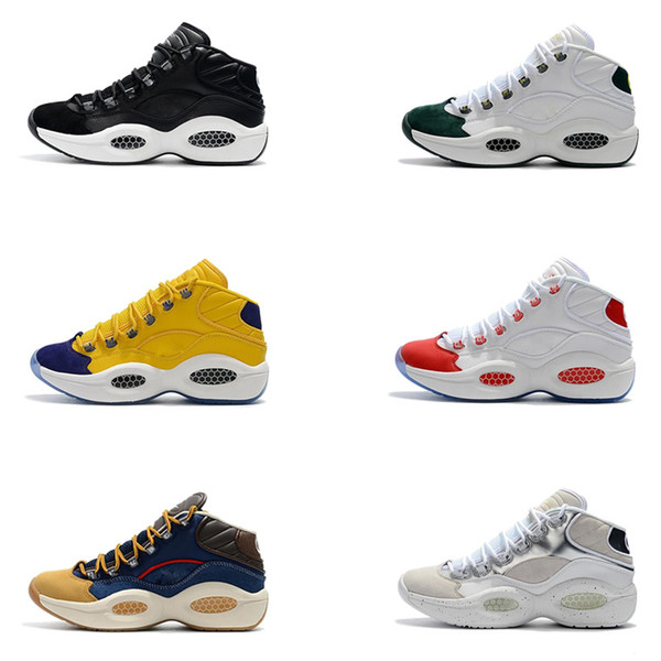 best selling Allen Iverson Question Mid Q1 Basketball Shoes mens Answer 1s Zoom running Athletic Sport shoes Sneakers designer shoes SIZE 40-45