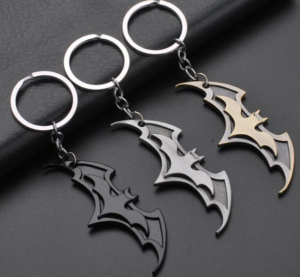 2018 New Fashion Avenger Union Batman keychains For Bag Key Holder Charm Hanging pendant Car Key Chains Key Ring