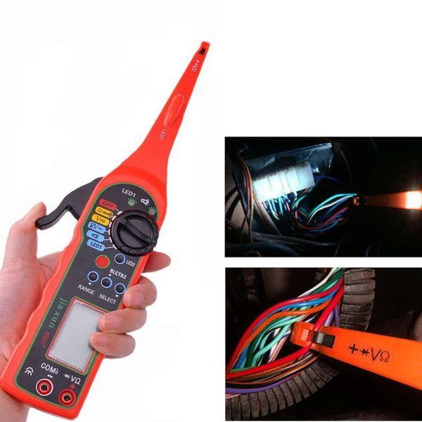 Multifonction Numérique LCD Automobiles Testeur De Circuit Multimètre Lampe Lampe De Réparation Électrique De Voiture Outils De Diagnostic-outil avec Led Lumière