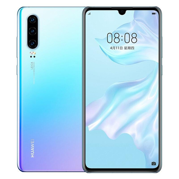 Nouveau Original Huawei P30 Mobile Téléphone 6.1 pouces 8GB RAM 256GB ROM Support Carte Mémoire NM OTG Double Carte SIM Smartphone