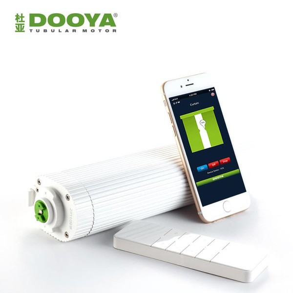 Broadlink DNA Dooya WiFi Electric Curtain Motor DT360E Remote Control + super quite curtain track For Smart Home Automation