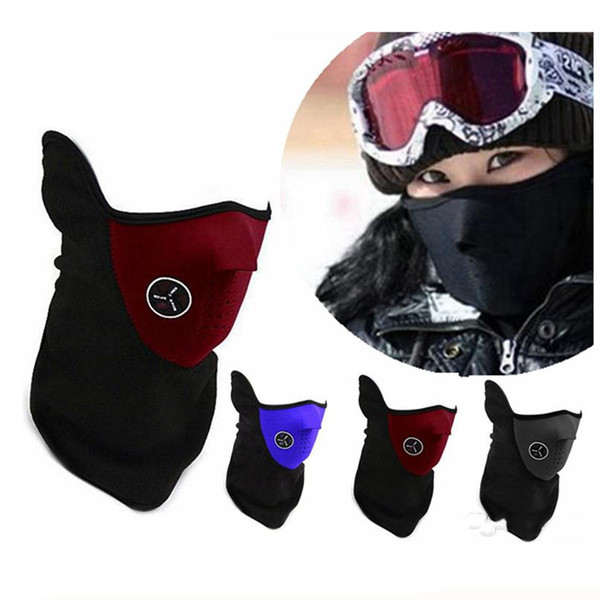 Neoprene Neck Half Face Mask Outdoor Sports Warmer Mask Unisex Cycling Motorcycle Mask Windproof Veil Snow Bike Motorcycle Ski Guard
