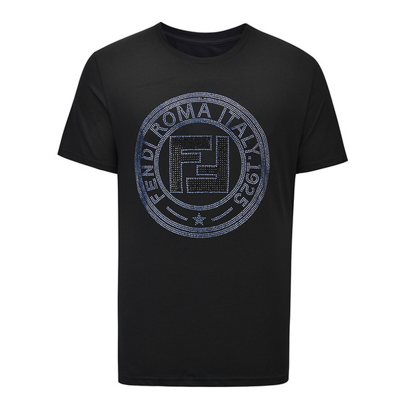 2019 Designer Männer und Frauen Luxus T-Shirt Frühling Baumwolle Marke Student T-Shirt Druck Mode Sport Schwarz und Weiß Asiatische Größe M-XXXL