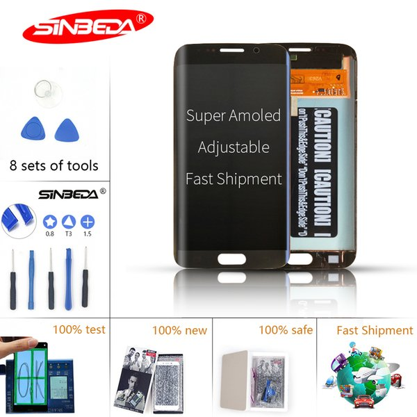 Sinbeda Super AMOLED LCD For Samsung Galaxy S6 Edge LCD Display Touch Screen Digitizer Assembly For G925 G925F G925i LCD Screen