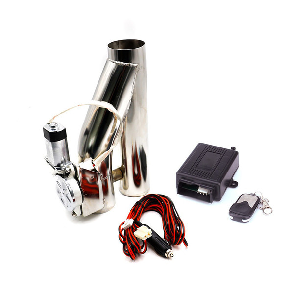 Car modification Electric remote control stainless steel exhaust valve kit 2.5/3 inch with battery universal Y-type exhaust pipe