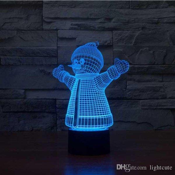 Cambio 3D Regalos Mesa Compre 7 Suministros Ilusión USB Del Lámpara Táctil Del Que Nieve Lámpara De Duerme Cumpleaños Muñeco Bebé De De De De De Color 3L5Aj4R