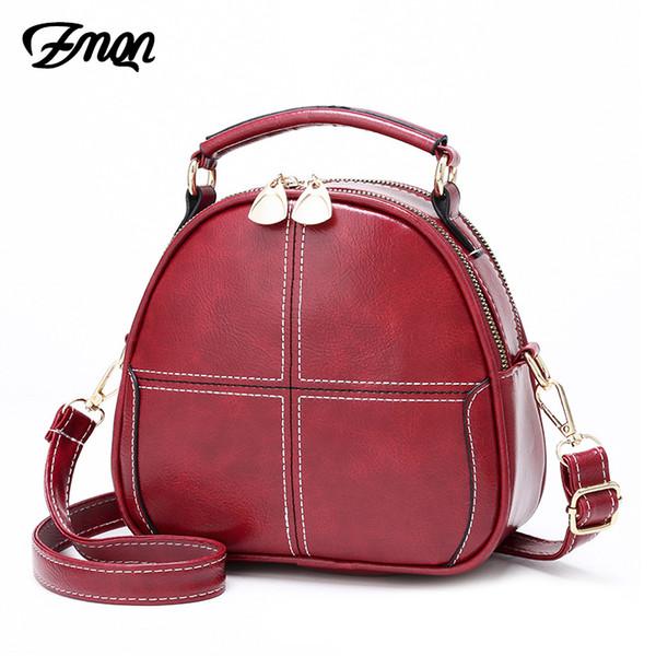 ZMQN Flap Bags For Women 2019 Vintage Crossbody Bags Small Ladies Handbag Side Red Shoulder Leather Bag Girl Bolsa Feminina C260