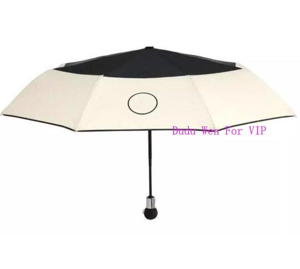 gift box and chain bag~luxury CCC Umbrella For Classic Women Automatic open and closed fashion Umbrella for Rain or sunshine VIP gift
