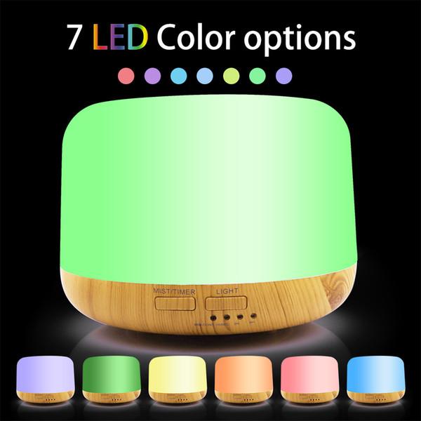 Офис дома очиститель воздуха мини 300 мл 500 мл ультразвуковой увлажнитель ароматерапия аромат масла диффузор с 7 цветов светодиодные лампы