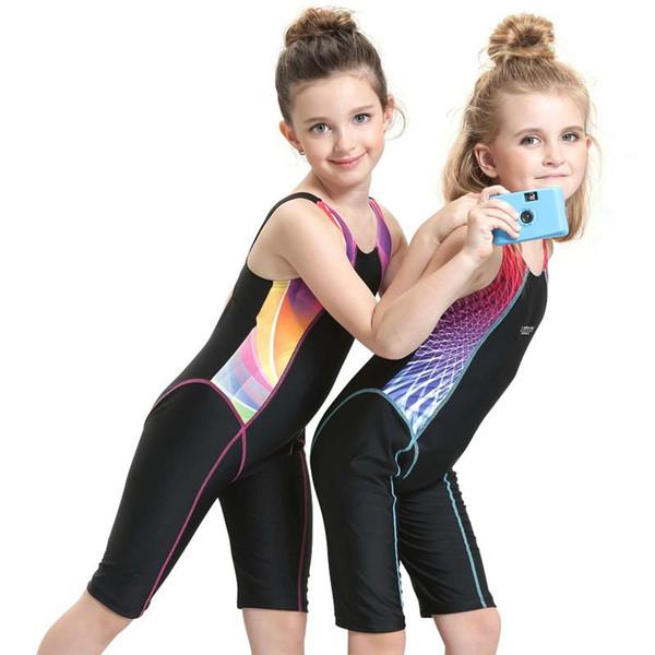 Hot Wholesale- Children Swimming Clothes 2019 Girls Sports Swimsuit One-piece Swimwear for Kids Swimming Suit Professional Girls Swimwear