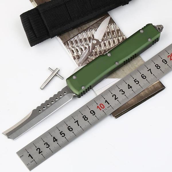 Cuchillo de caza táctico de la maquinilla de afeitar UT de alta tecnología Cuchilla D2 Mango de aluminio CNC Herramienta externa profesional para uso personal para dar a las personas lo mejor