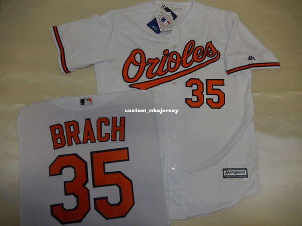 "Cheap custom BRAD BRACH ""Cool Base"" Baseball JERSEY WHITE Stitched Customize any name number MEN WOMEN BASEBALL JERSEY XS-5XL"